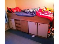 Children's Cabin Bed With Mattress - Free Delivery In Southampton Area
