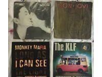 job lot vinyl records (70) 7inch records majority include, mixed inc Abba,David Bowie,Beatles,UB40.