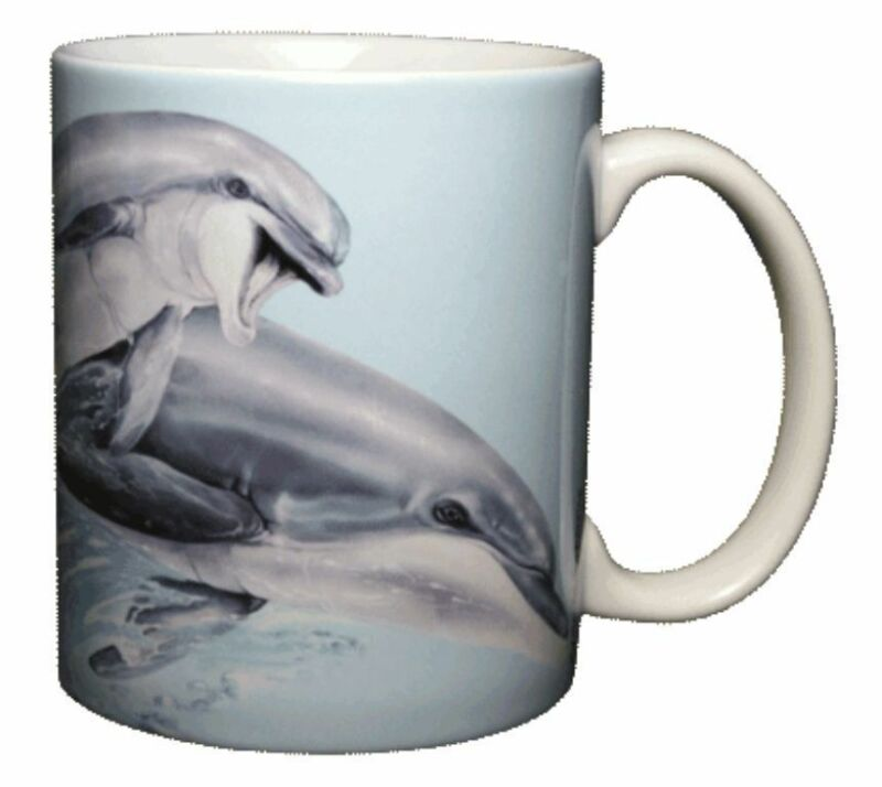 Leaping Dolphins 11 OZ. Ceramic Coffee Mug or Tea Cup