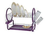 2 tier Purple Dish Drainer Brand new in box never used Old Trafford