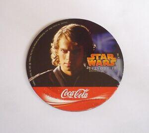 STAR-WARS-Promo-Coaster-REVENGE-of-The-SITH-Thailand-ANAKIN-SKYWALKER-Coca-Cola