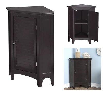 Bathroom Storage Advisors Corner Floor Standing Cupboard Kitchen Pantry Espresso