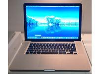 "Macbook Pro 15.4"" Intel Core i7 2.8Ghz/8GB DDR3/500GB Solid State Drive Hi Def IRIS Gfx Magsafe Mint"