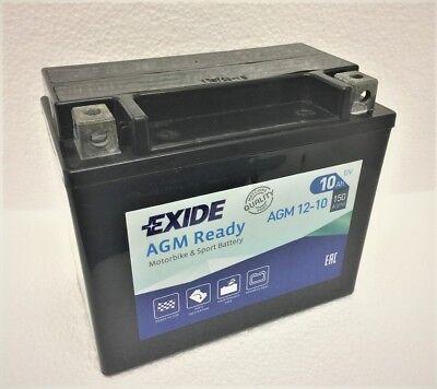 EXIDE AGM 12 10 YTX12 BS SEALED READY FIT BATTERY TRIUMPH BONNEVILLE T
