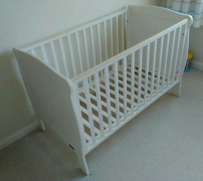 Mamas Amp Papas Cot With Mattress In Farnborough