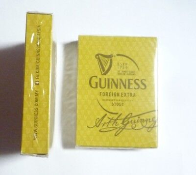 MALAYSIA Playing Cards GUINNESS STOUT Gold Pack Sealed 2008 Foreign Extra RARE