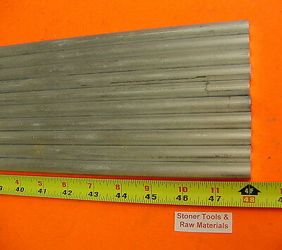 10 Pieces 38 Aluminum 6061 Round Rod 48 Long Solid T6511 Extruded .375 Bar