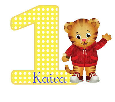 Daniel Tiger's Neighborhood # 1 - T Shirt Iron On Transfer - Birthday - - Daniel Tiger Fabric