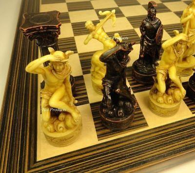 GREEK ROMAN MYTHOLOGY GODS Chess Set W/ 14