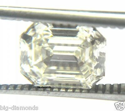 3.04Ct Natural White GIA Cert I Color SI-1 Emerald Cut Loose Solitaire Diamond