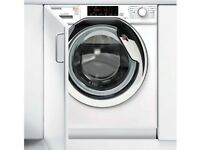 HOOVER washing machine & Dryer built in HBWD 8514TAHC Integrated 8 kg Washer Dryer - White