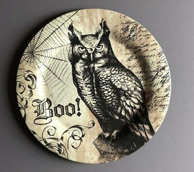 Spooky Halloween Dinner (Halloween Spooky Owl Dinner Plates Set of 6 Melamine 11