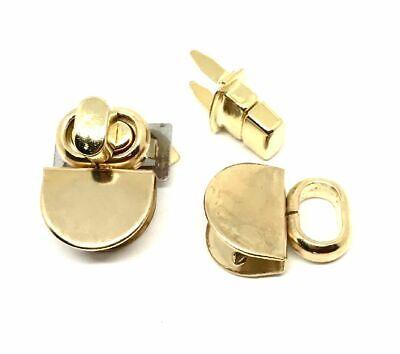 Riemen Shopper Handtasche (DREHWIRBELVERSCHLUSS Riemen Shopper Handtasche gold ERSATZTEIL und NEUWARE)
