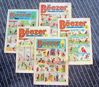 101 vintage Beezer comics from 1960s, 1970s and 1980s. Various conditions.