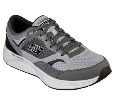 Skechers Men's Athletic Casual Comfort Shoes Skyline Alphaborne 52968 Gray Black ()