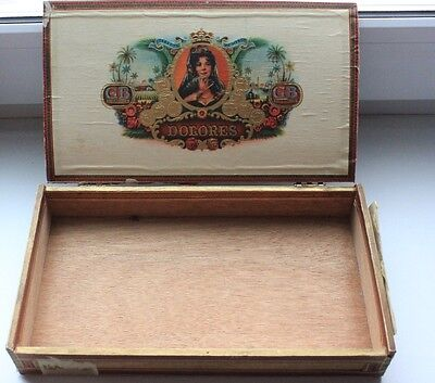 Vintage Wooden cigarettes Box DOLORES TABACOS ZIGARREN Germany for sale  Shipping to Canada