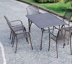 Tavolo tavoli sedie sedie poltrone ferro battuto esterno esterni giardino ebay - Tavolo ferro giardino ...