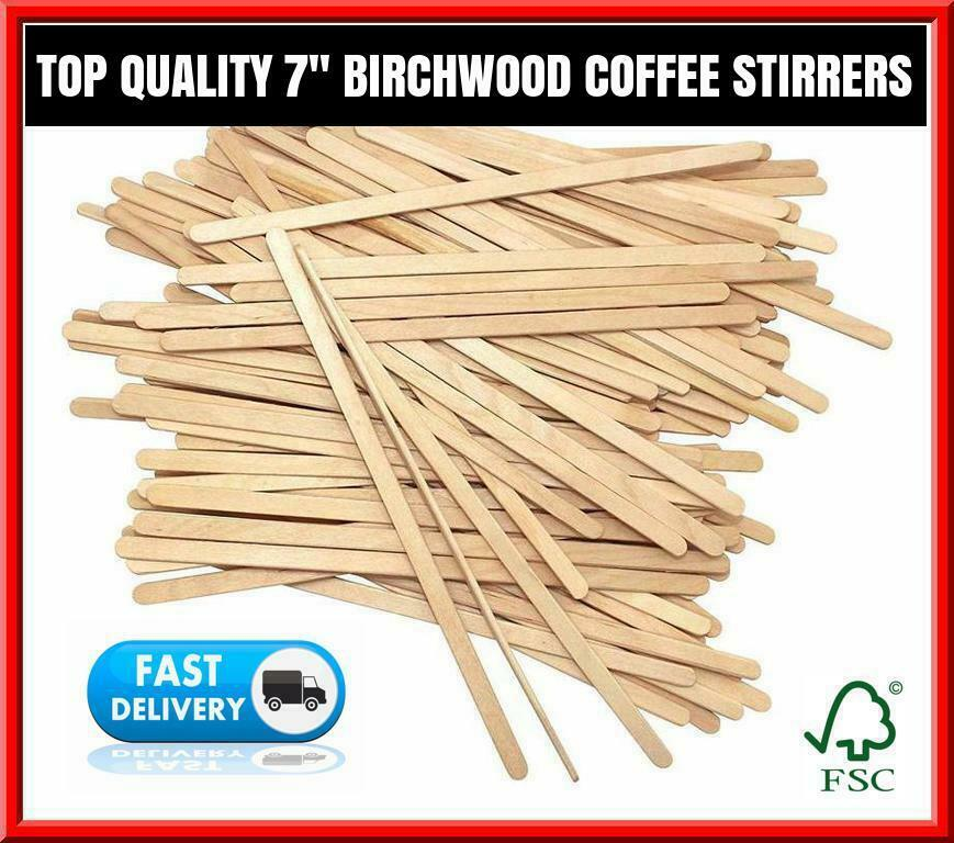 Details About Wooden Coffee Stirrers For Paper Coffee Cups Cup Sticks 7 178mm