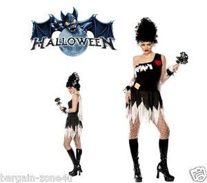 Smiffy's Monster's Bride Adult Women Halloween Party Fancy Dress Costume