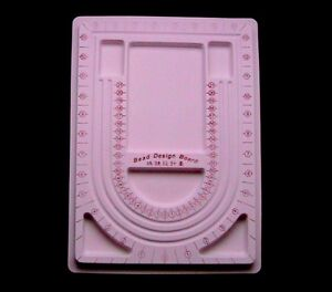 1 x Large Plastic Flocked Bead Board Tray Design 32cm x 23.5cm FREE UK P+P ML