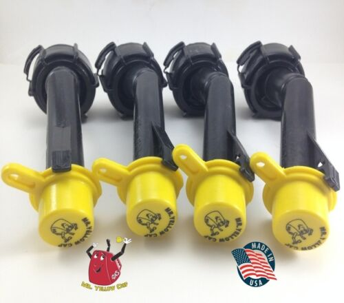 4 - Blitz Gas Can Nozzle Spouts Rings Caps Replacement Vintage 900094 900092 NEW