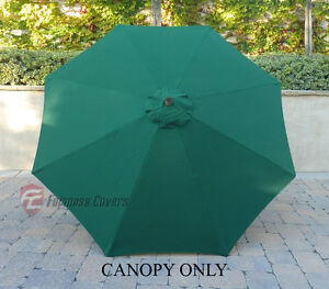 9ft patio outdoor yard umbrella replacement canopy cover top 8 ribs green - Patio Umbrella Replacement Canopy