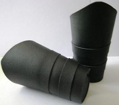 2 Plain BLACK Leather Gauntlets Arm Bands Biker Punk Goth Avenger Adjustable