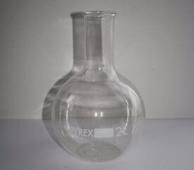 Glass Flask Pyrex - vase for flowers, water jug, carafe, novel science gift, decorative