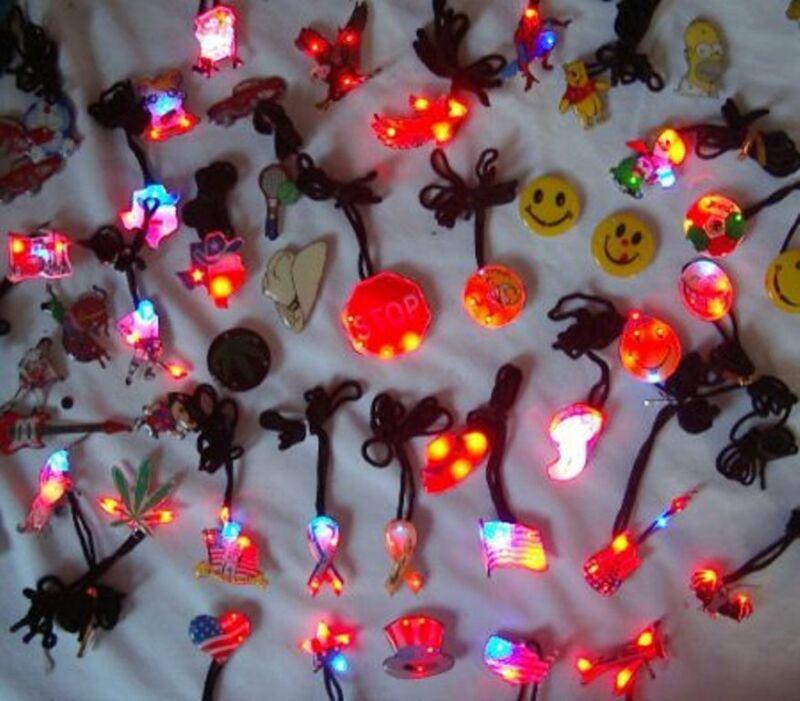 100 pcs Assort Body Flashing Lights LED Blinky Birthday Party Favor Bag Fillers