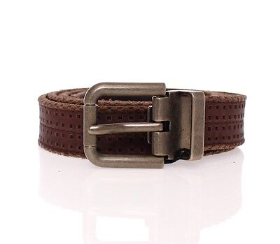 NWT $360 DOLCE & GABBANA Brown Leather Logo Belt Cintura Gürtel s. 90cm/ 36inch
