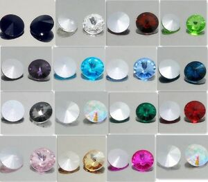 15PCS-XILION-1122-ELEMENTS-Crystal-Rivoli-Beads-14mm-U-PICK-Colours
