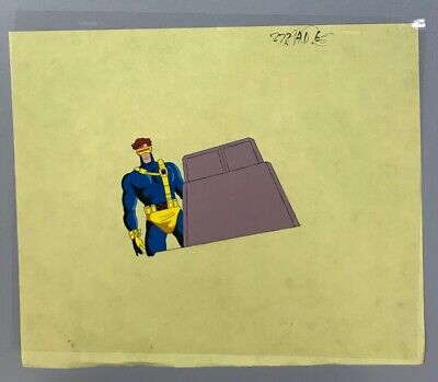 X-Men Cyclops Cartoon Original Hand Painted Production Animation Cel , used for sale  Reading