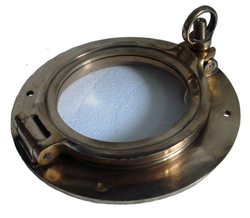 """Marine BRASS PORT HOLE / Window / Porthole - 7"""" INCHES - TOUGHENED GLASS"""