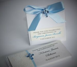 20 X Blue Acrylic Cross Christening Baptism Communion Christening Favour 2x2.5cm