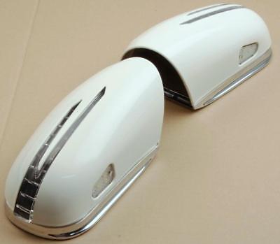 Spiegelkappen LED Blinker Weiß Chrom FÜR Mercedes W215 ab 2002 MOPF