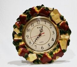 RED APPLE wall clock Decor Kitchen country decor