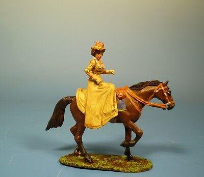 Lineol / Elastolin - Wild West – Lady zu Pferd – 7cm Serie