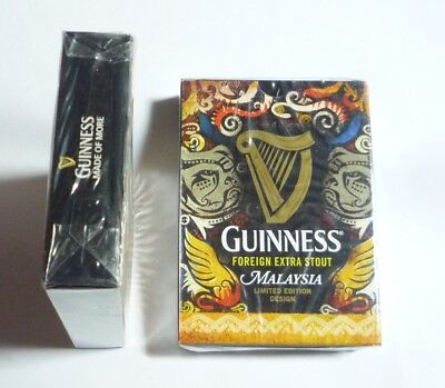 MALAYSIA Playing Cards GUINNESS STOUT Gold Pack Sealed 2015 Limited Edition RARE