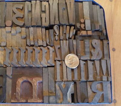 Alphabets Wood Letterpress Type  6810line Sorts Orphans  Mw22  2