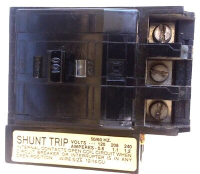 Sq D Qob31001021 10kaic 100a 3p 120240v Shunt Tripi Plug-in Circuit Breaker