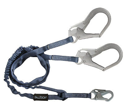 Falltech 8259y3 6 Double Lanyard With Rebar Hooks For 100 Tie-off