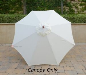9ft Patio Outdoor Yard Umbrella Replacement Canopy Cover Top 8 Ribs Off White & 9 ft Umbrella Replacement Canopy   eBay