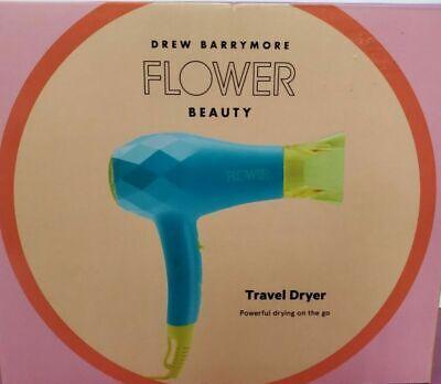 NEW .Flower Travel Dryer Dual-Voltage. Tourmaline Ceramic Tech. 2 Settings.