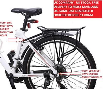 RDK Bike/Cycling Rear Disc Brake Pannier Bag Rack - Black ()
