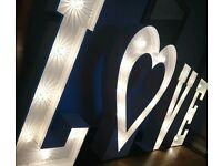 🌟🌟 4ft light up LOVE / MR & MRS / Numbers 🌟🌟