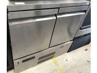 Commercial Catering Stainless Steel Williams H1OCT R1 2 Door Bench Fridge