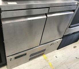 Commercial Catering Stainless Steel Williams H1OCT R1 2 Door Bench Fridge