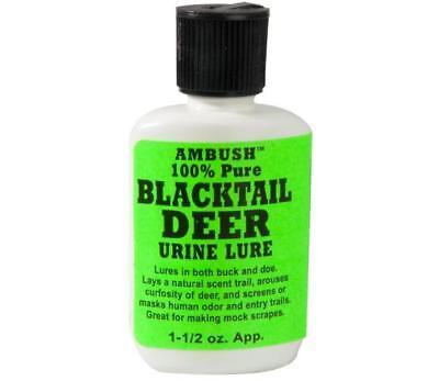 Doe Urine Deer Scent - Moccasin Joe Ambush 100% Pure Natural Blacktail Deer Urine Lure Scent Attractant