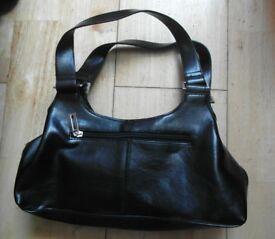 Woman Handbag in Black Leather