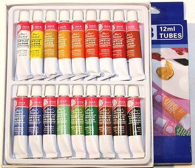 (4,16€/100ml) feine Acrylfarbe, Farbset mit 18 Tuben je 12ml, original MAGI